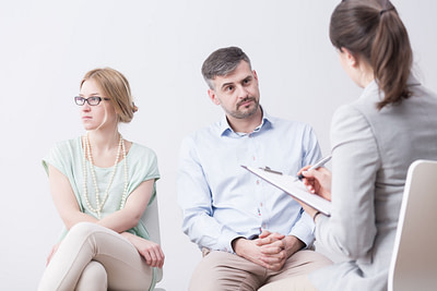 weekly in-person couples therapy