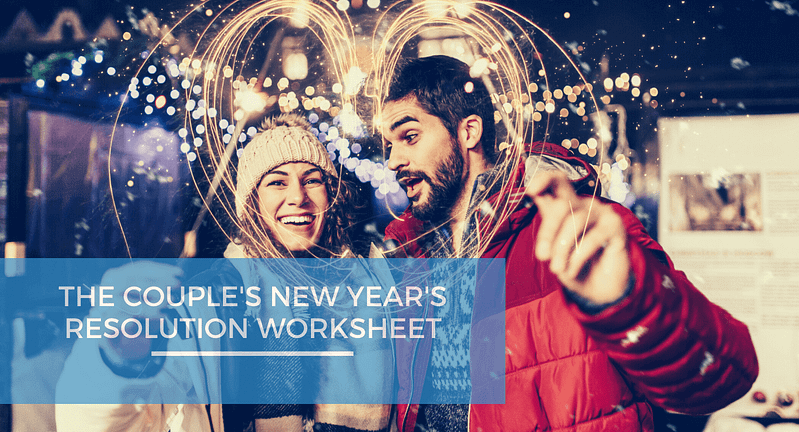Couple's New Year's resolution worksheet