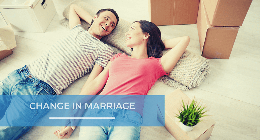 Change in marriage