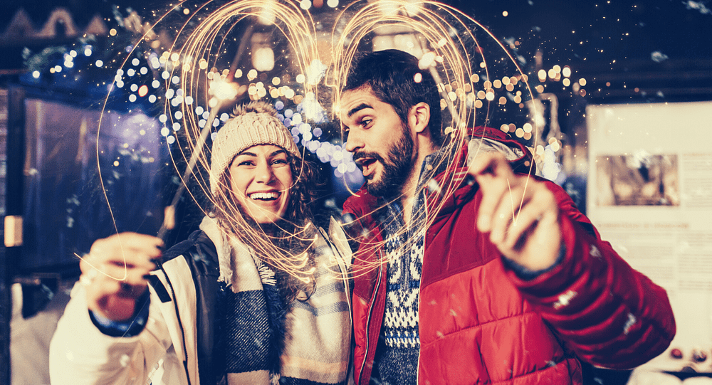 The couple's New Year's resolution worksheet